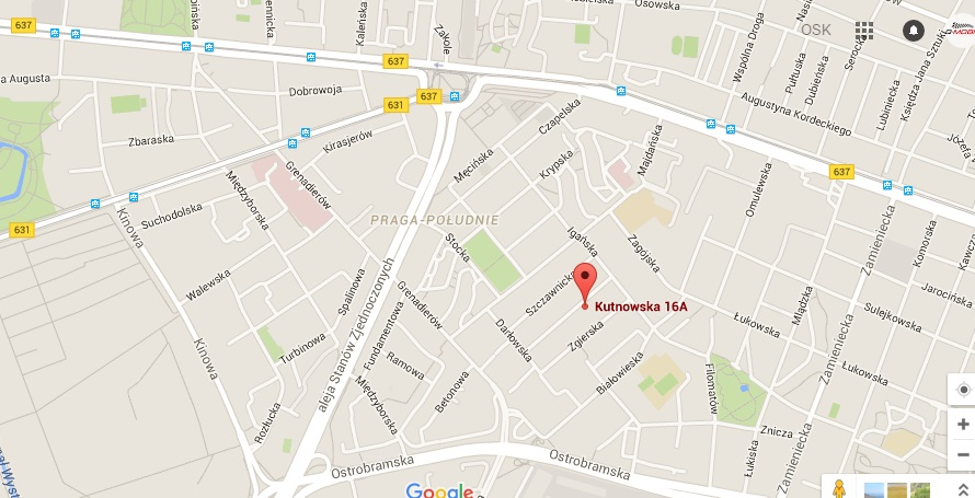 Mapa lokalizacji OSK Perfekt