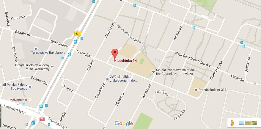 Mapka lokalizacji OSK MILA