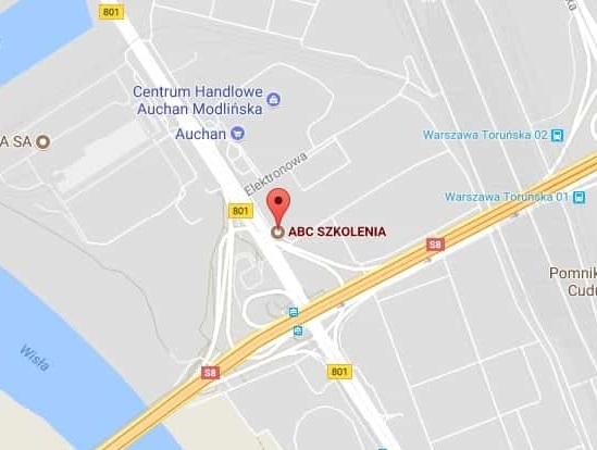 Mapka sytuacyjna ABC Szkolenia ul. Modlińska 6 w Warszawie